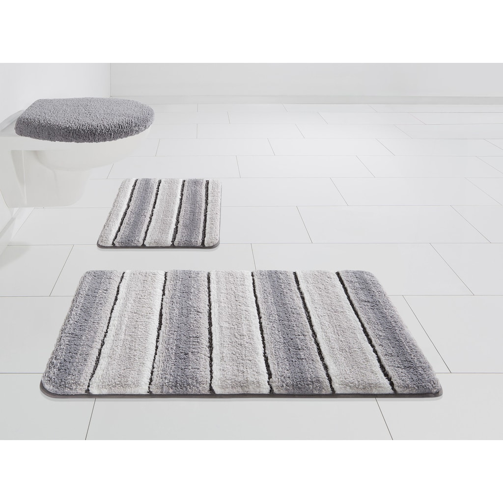 Home affaire Badematte »Stripes«, Höhe 7 mm, Besonders weich durch Mikrofaser