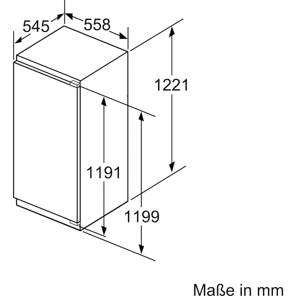 SIEMENS Einbaugefrierschrank »GI41NACE0«, iQ500, 122,1 cm hoch, 55,8 cm breit