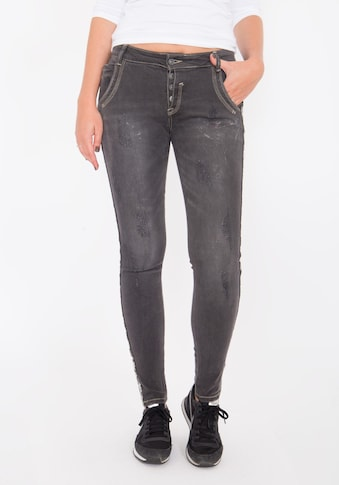 Blue Monkey Skinny-fit-Jeans »Emma 1118«, mit Dekoband kaufen