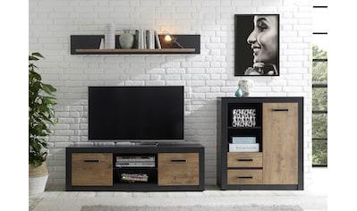 my home Wohnwand »Brügge«, (Set, 3 St.), Mit einer dekorativen Rahmenoptik kaufen