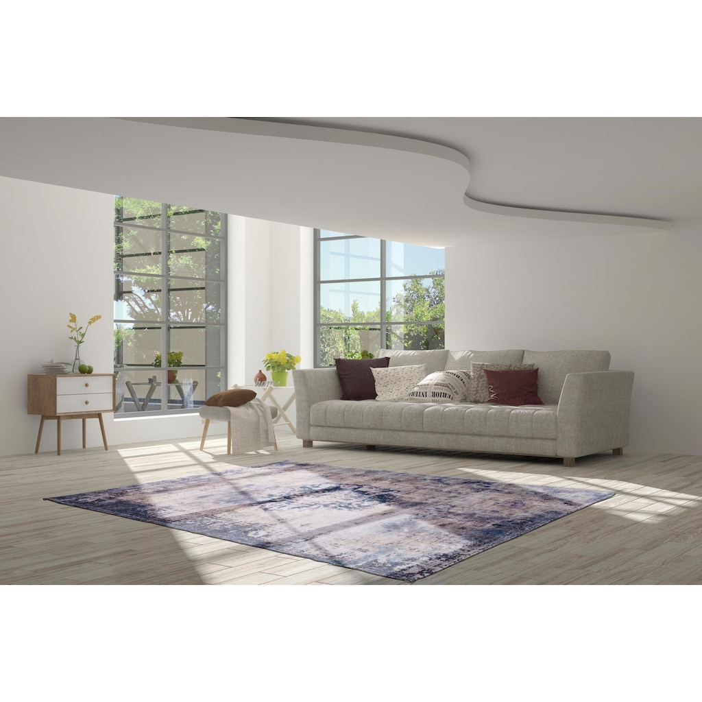 calo-deluxe Teppich »Layata 8034«, rechteckig, 9 mm Höhe, Kurzflor, Wohnzimmer