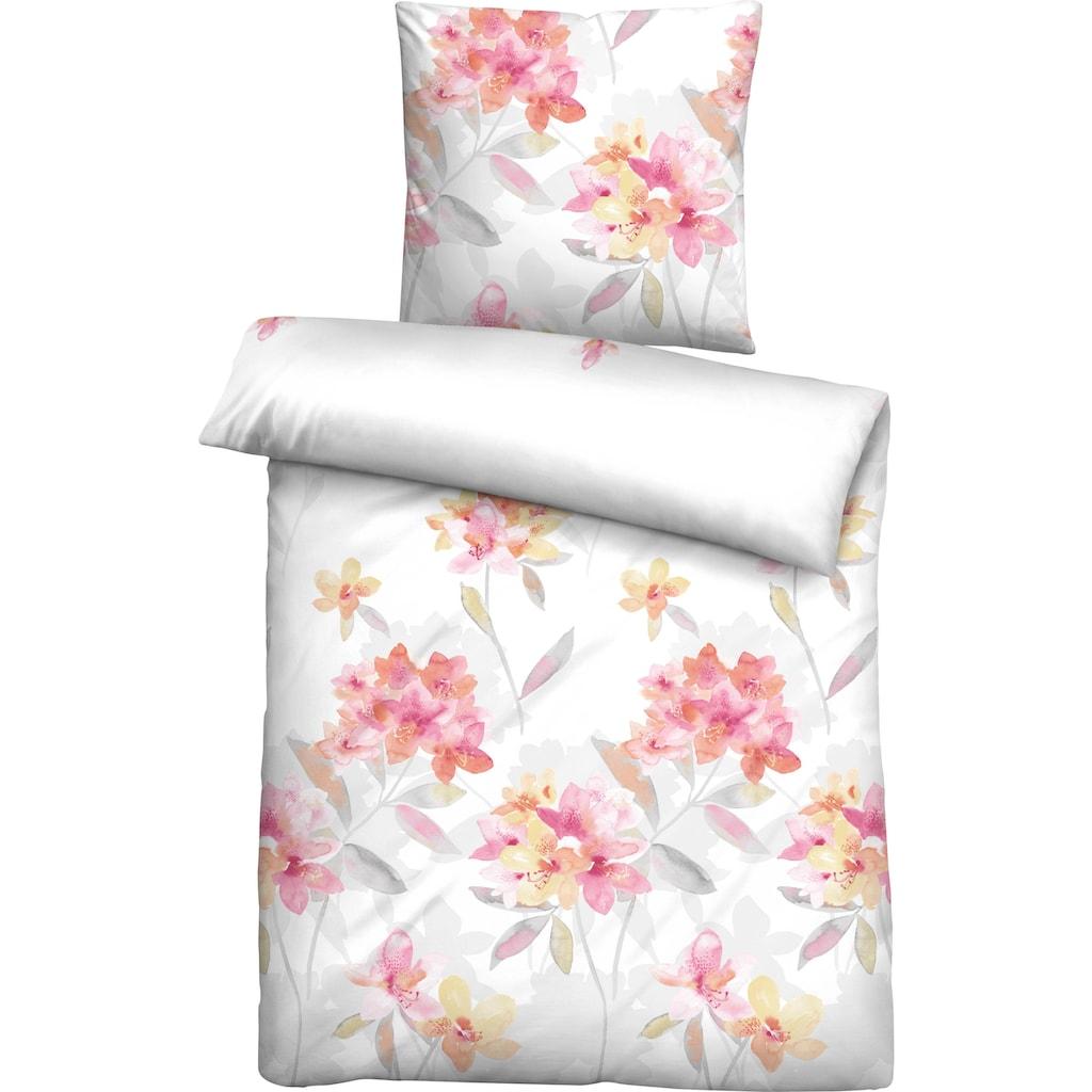 Biberna Bettwäsche »Leni«, mit großem Blütenprint