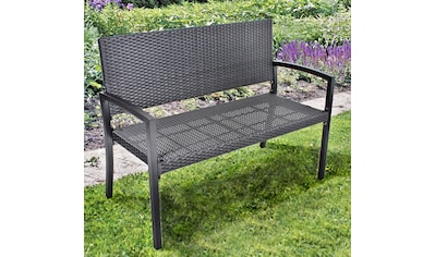 GARDEN PLEASURE Gartenbank »SANREMO«, Polyrattan, 116x87x60 cm, schwarz kaufen