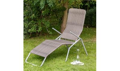 MERXX Gartenliege »Syrakus XL«, Stahl/Polyrattan, klappbar kaufen
