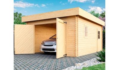KARIBU Garage »Marko«, BxT: 415x572 cm, Einfahrtshöhe 193 cm, mit Dachfolie kaufen