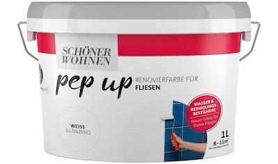 SCHÖNER WOHNEN-Kollektion Fliesenlack »pep up - weiß«, weiß glänzend, für Fliesen, 1 l kaufen