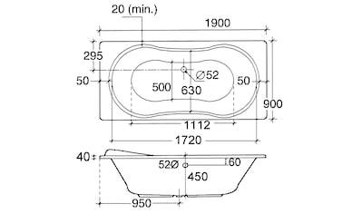 OTTOFOND Whirlpool-Badewanne »Palma«, Typ 1, chrom kaufen