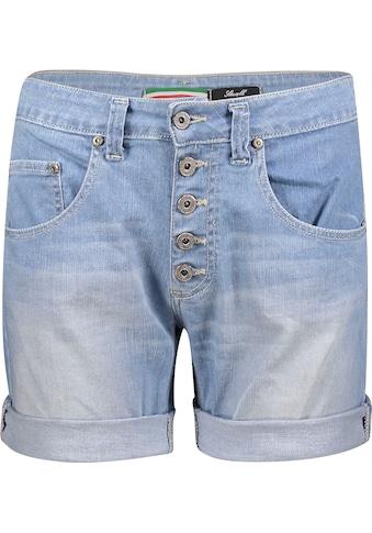 Please Jeans Jeansbermudas »P88A«, mit sichtbarer Button-Fly Leiste vorn kaufen