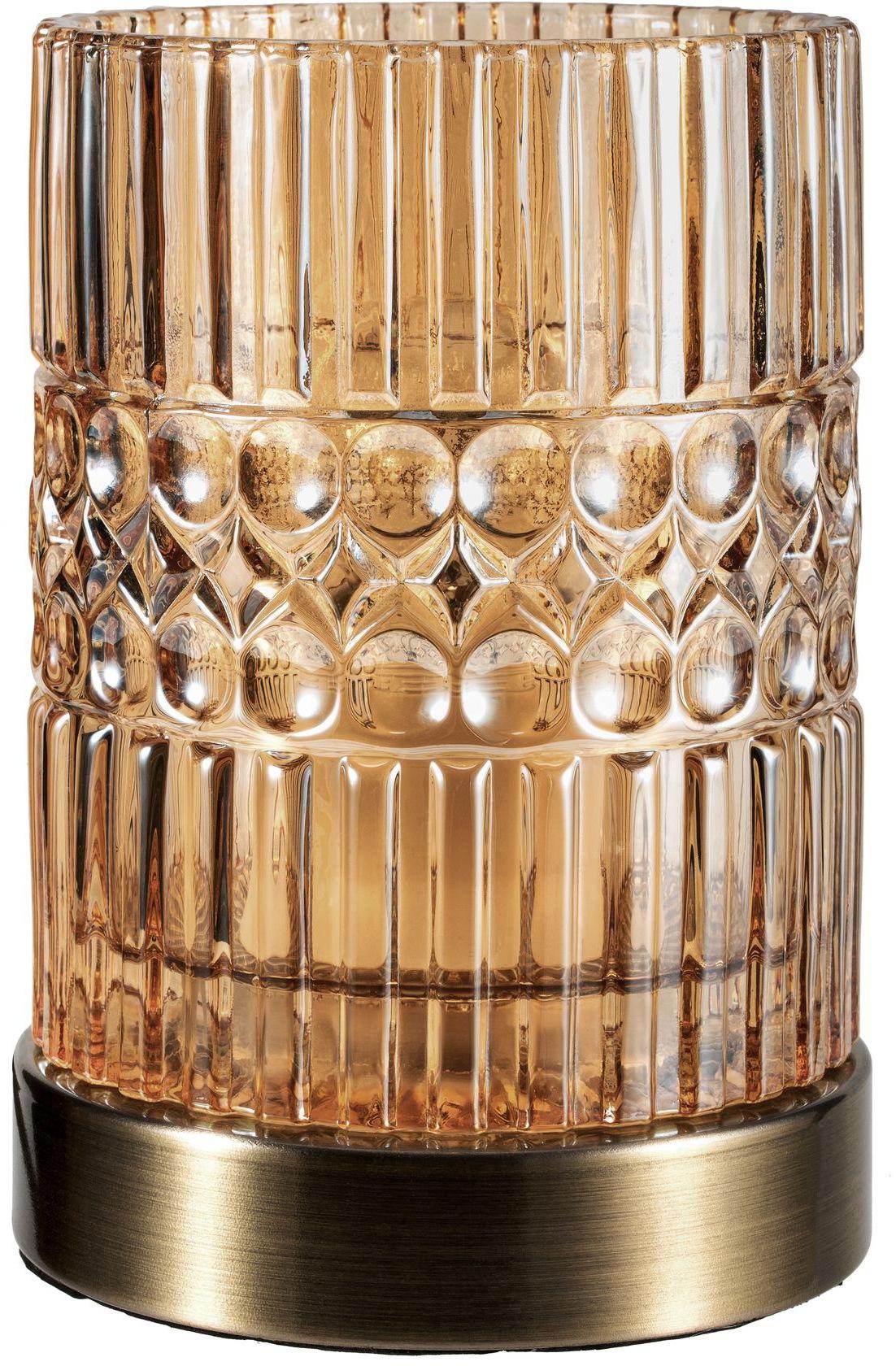 Pauleen Tischleuchte Crystal Elegance, E27, 1 St., Glas Bernstein