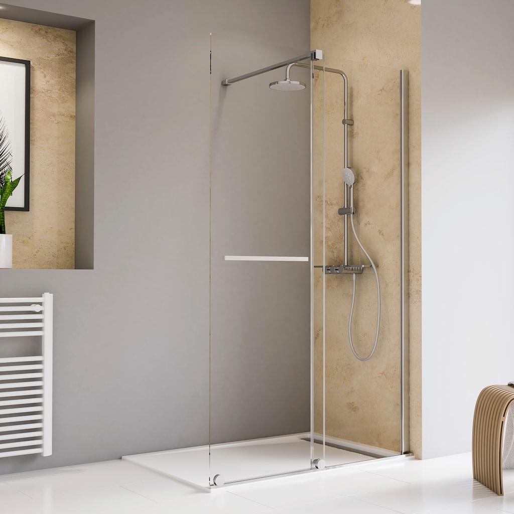 Schulte Walk-in-Dusche »Toura«, mit Schiebetür und Handtuchhalter