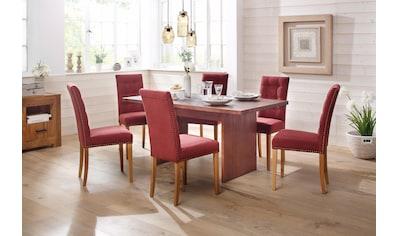 Home affaire Esstisch »Maine«, aus massivem Akazienholz, mit zwei massiven Beingestell-Holzplatten, in zwei Tischbreiten kaufen