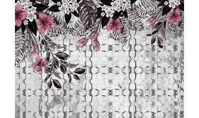 Consalnet Papiertapete »Rosa Muster mit Blumen«, floral kaufen