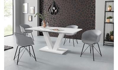 Esstisch »Andy«, mit Auszugsfunktion, 2 Breiten (140-180 cm oder 180-220 cm), weiß Hochglanz kaufen