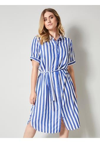 Sara Lindholm by HAPPYsize Kleid mit streckendem Streifendessin kaufen