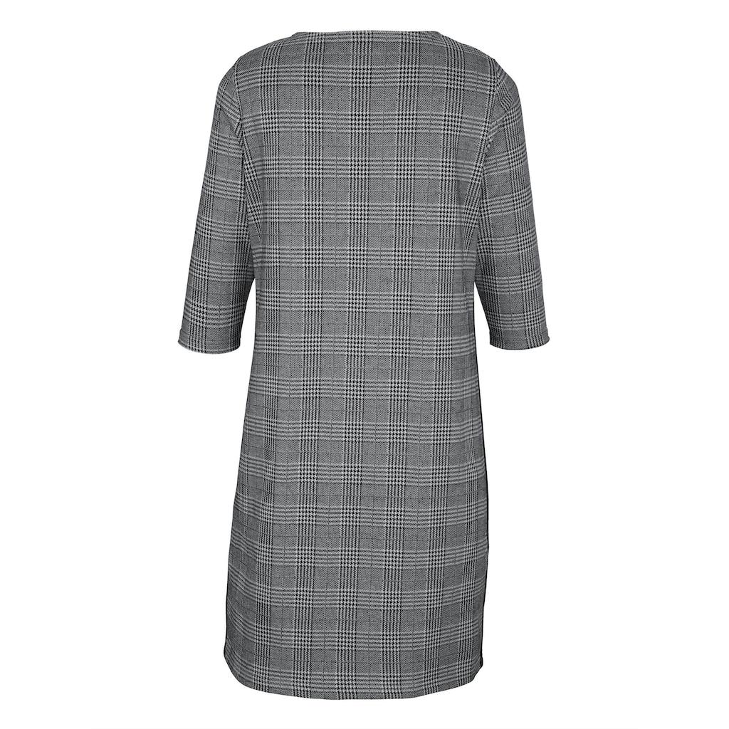 MIAMODA Kleid mit modischem Karomuster