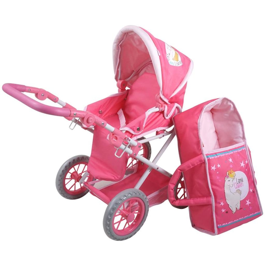Knorrtoys® Kombi-Puppenwagen »Nici La-La-Lama Lounge - Ruby«