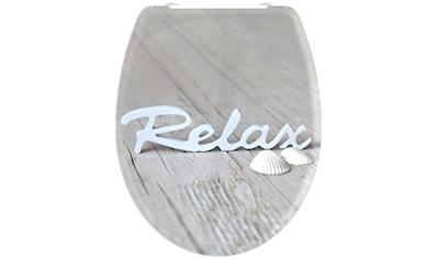 welltime WC-Sitz »Relax«, mit Absenkautomatik, abnehmbar kaufen