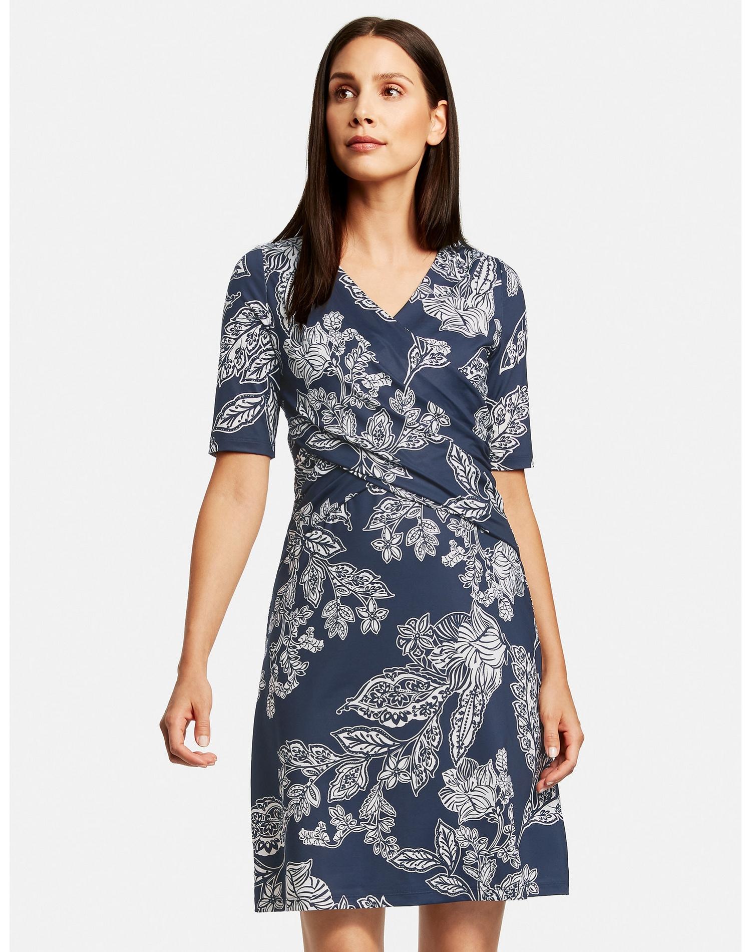 taifun -  Kleid Gewirke Kleid mit Wickel-Effekt
