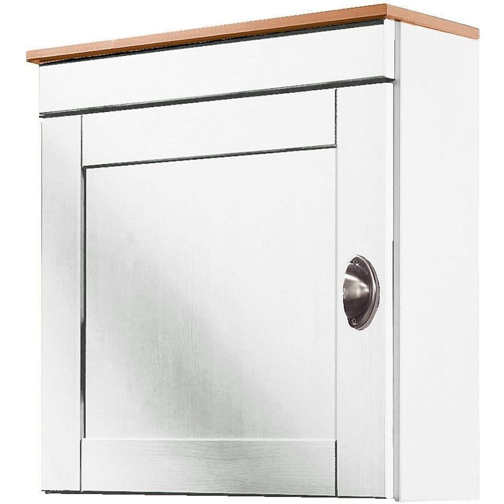 Home affaire Hängeschrank »Oslo«, 50 cm breit, aus massiver Kiefer, 1 Tür, Metallgriff, Landhaus-Optik