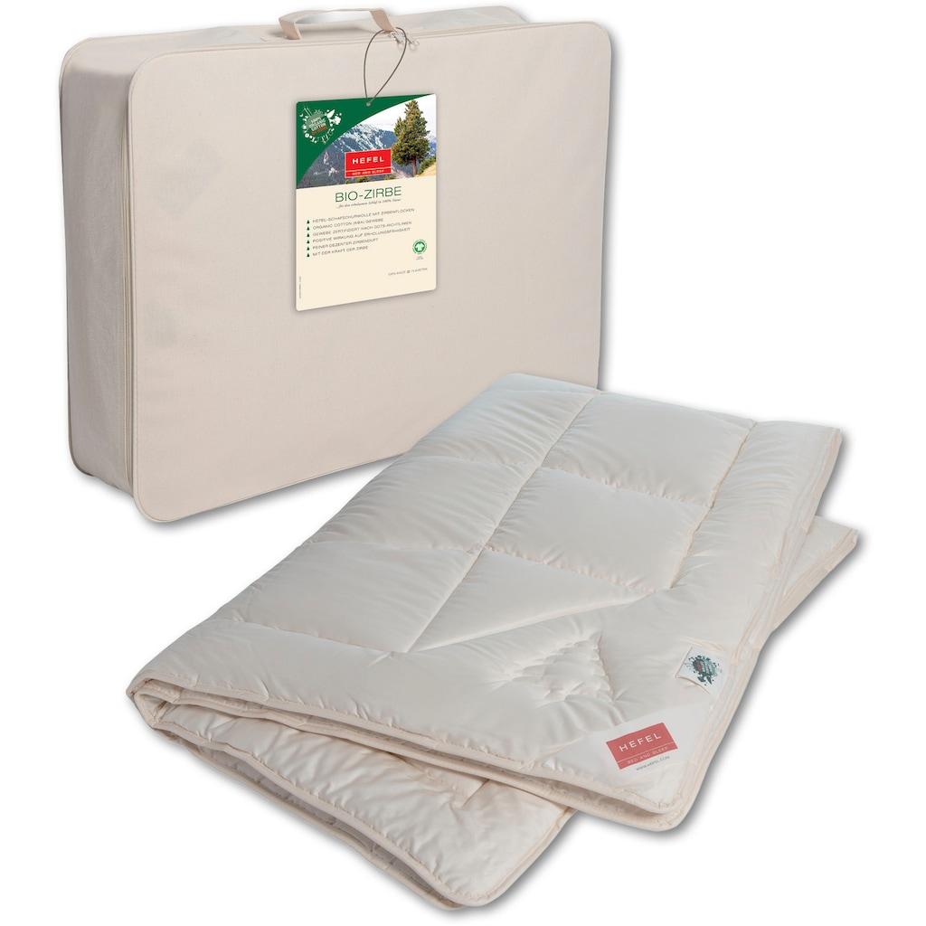 Hefel Naturhaarbettdecke »Bio Zirbe«, normal, Füllung Schafsschurwolle und Zirbenflocken, Bezug Bio-Baumwolle, (1 St.), sorgt für erholsamen Schlaf!