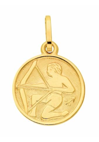 Adelia´s Kettenanhänger »333 Gold Sternzeichen Anhänger Schütze Ø 11,8 mm« kaufen
