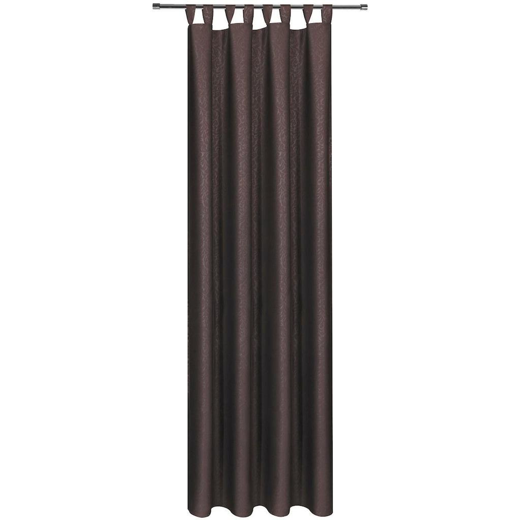 Gerster Vorhang »Kira«, HxB: 245x140, Deko Schlaufenschal mit Prägedruck