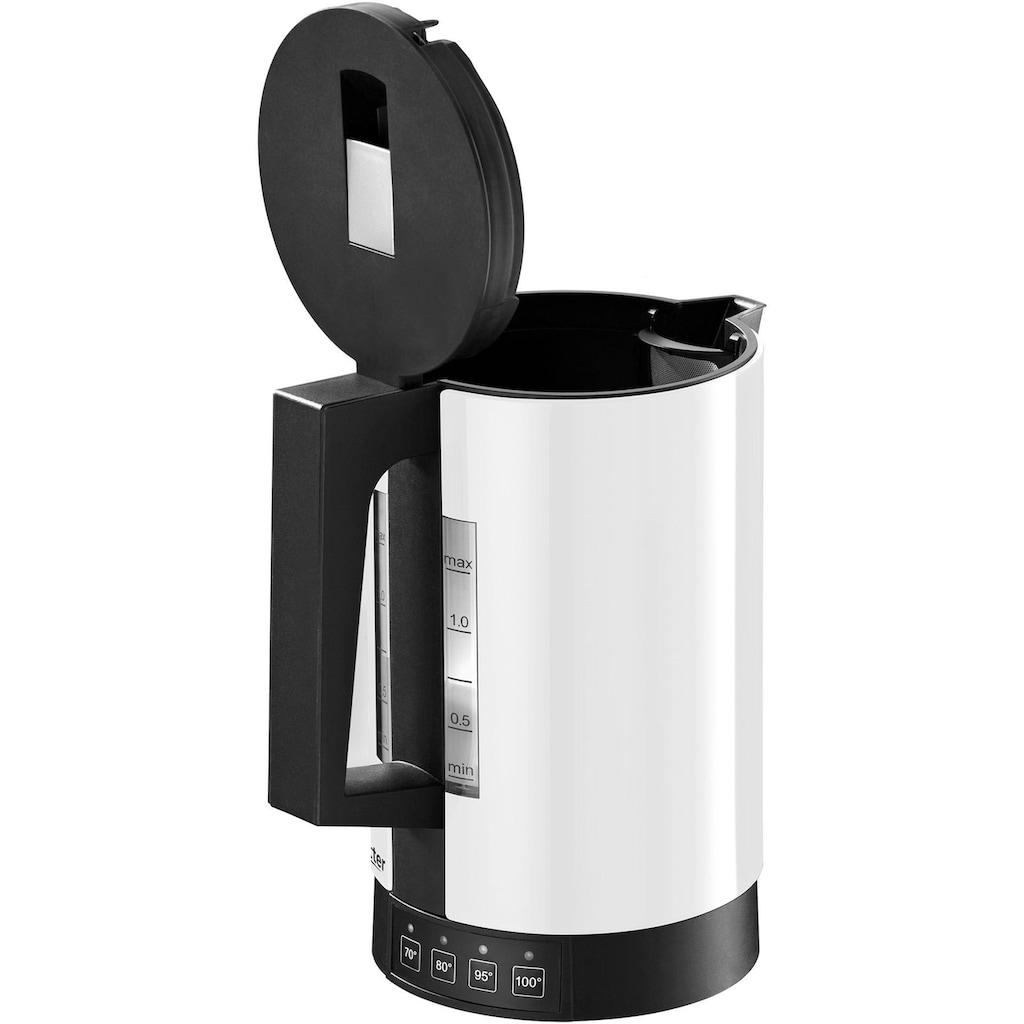 Ritter Wasserkocher, fontana 5 weiß, 1,1 Liter, 2800 Watt