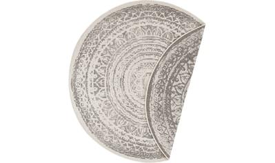 freundin Home Collection Teppich »Rosica«, rund, 5 mm Höhe, Wendeteppich, In- und... kaufen