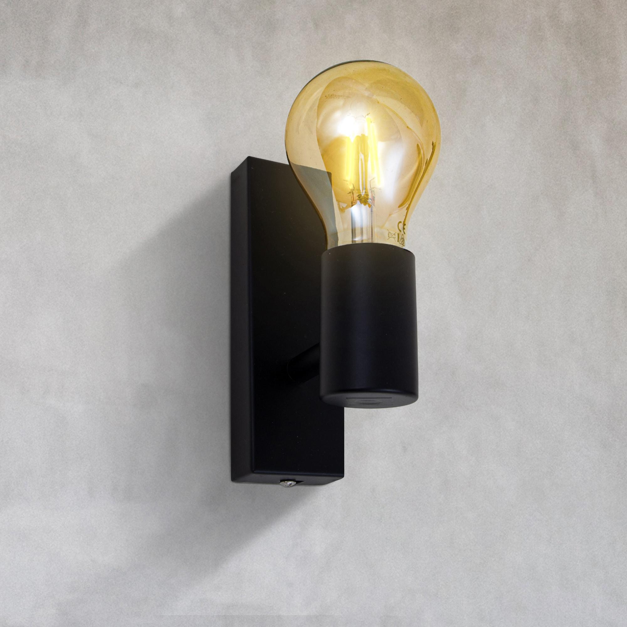 B.K.Licht LED Wandleuchte, E27, Warmweiß, Retro Wandlampe Vintage Wandspot matt Industrie Wohnzimmer Flur E27