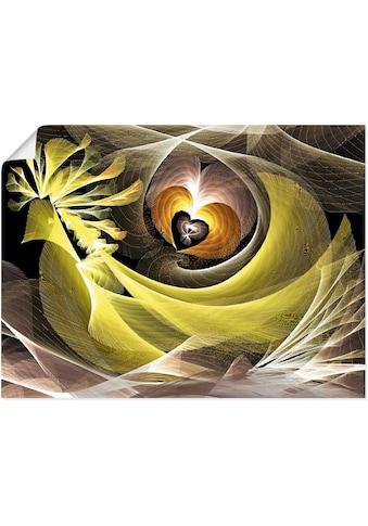 Artland Wandbild »Magischer Vogel mit Herzen«, Animal Fantasy, (1 St.), in vielen... kaufen