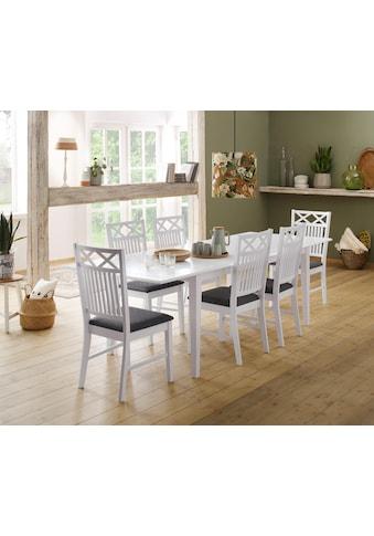 Home affaire Stuhl »Fullerton«, 2er Set, mit schönen Fräsungen an der Rückenlehne, Sitzhöhe 47 cm kaufen
