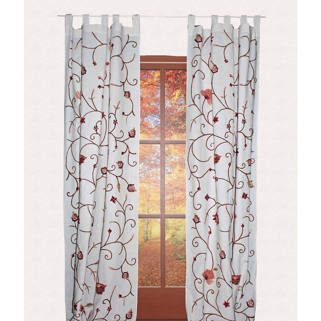 HOSSNER - ART OF HOME DECO Vorhang »Grundlsee«, rustikaler Shabby-Look