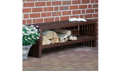 dobar Kaminholzregal »Svensson«, Gartenbank mit Stauraum kaufen