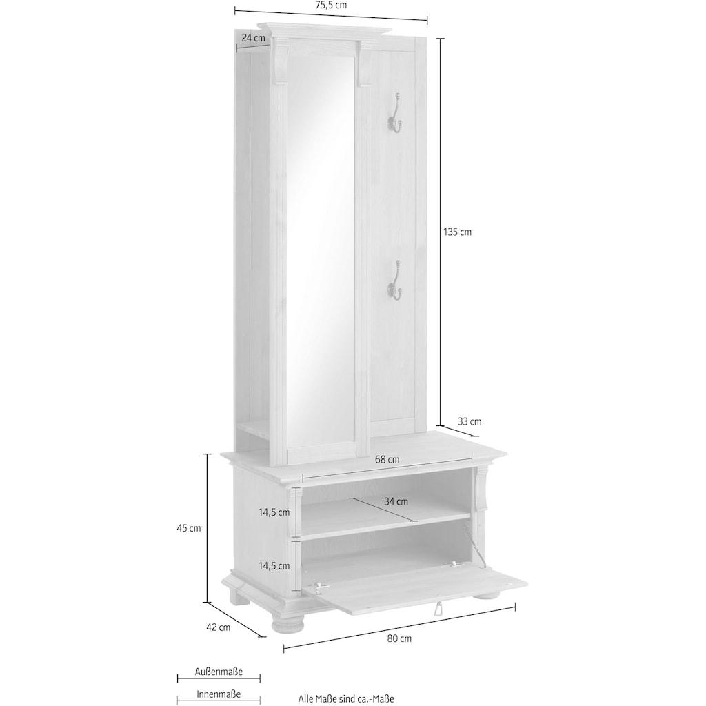 Home affaire Garderoben-Set »Mitu«, (Set, 2 St.), aus massiver Kiefer (2-tlg.)