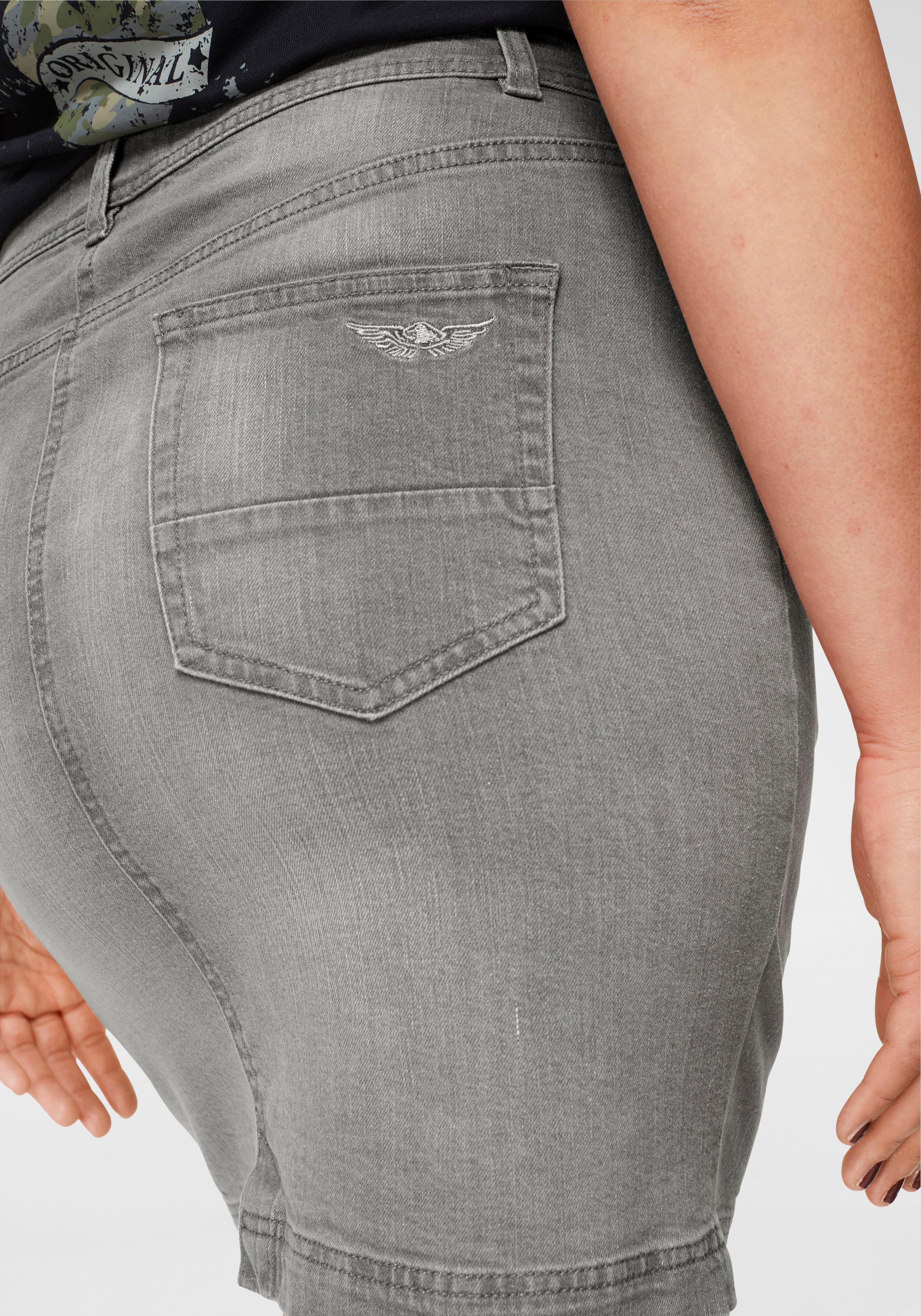1f63519f348a Details zu Jeansrock Damen Mit Sichtbarer Knopfleiste Röcke Arizona Basics