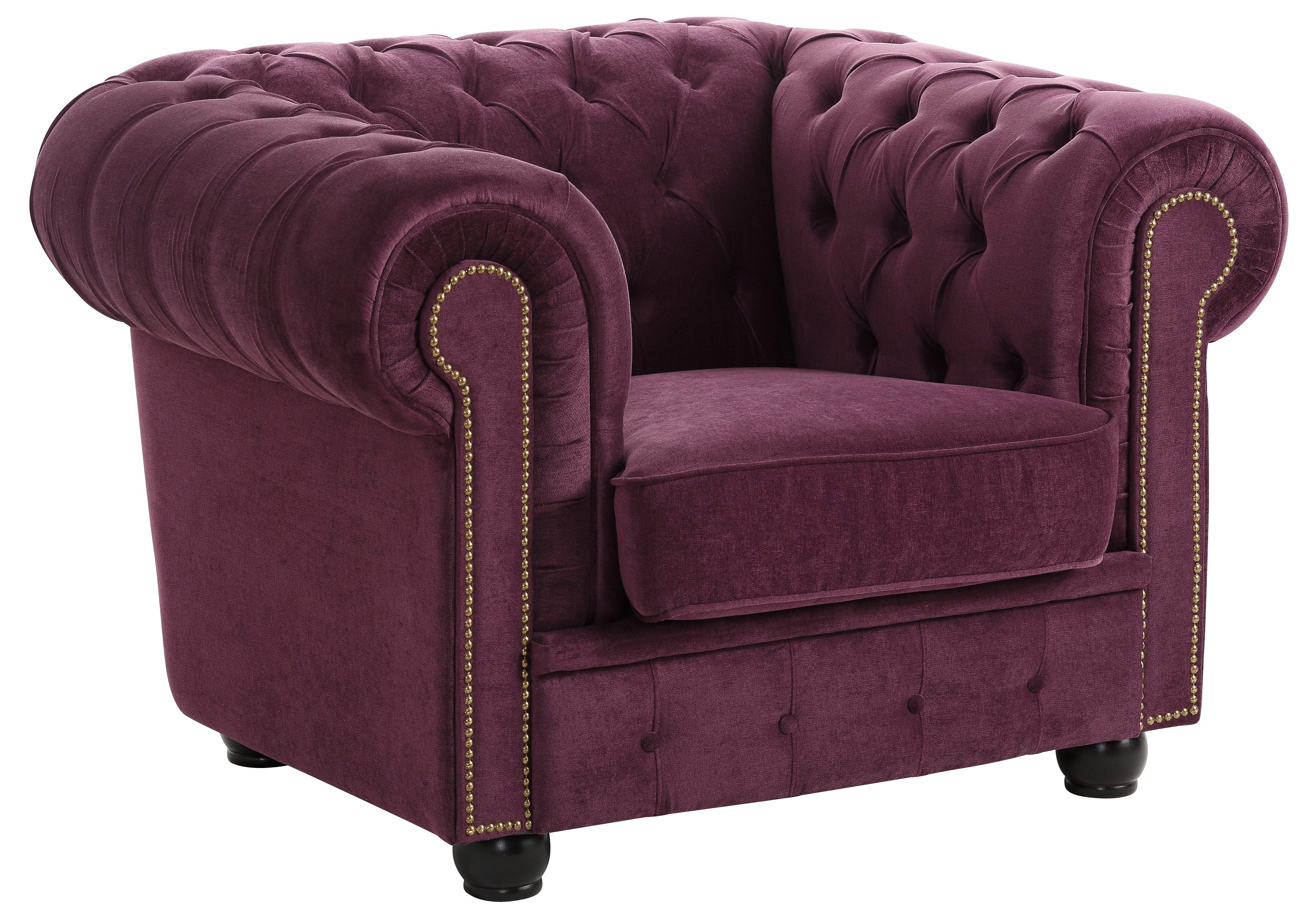 Max Winzer Chesterfield-Sessel Rover | Wohnzimmer > Sessel > Chesterfield Sessel | Lila | Max Winzer