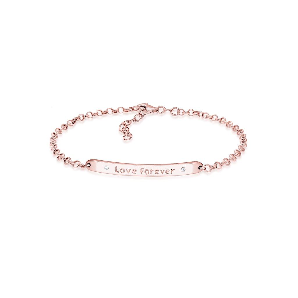 Elli Armband »Love forever Kristalle Sterling Silber«