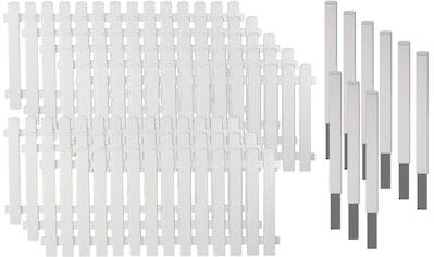 T&J Gartenzaun »Lexington 6«, Kunststoff, 80 cm hoch, 8 Elemente für 15,21 Meter Zaun,... kaufen