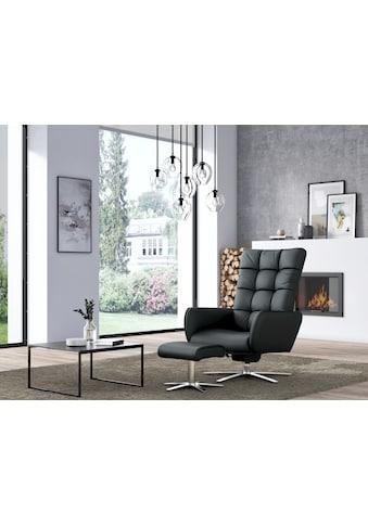 W.SCHILLIG Sessel »deXxter«, Sessel mit Hocker, mit Wipp-Dreh-Funktion, mit Steppung am Rückenteil, Gestell Chrom glänzend kaufen