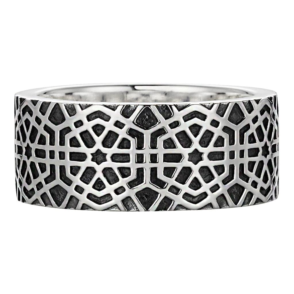 CAÏ Ring »925/- Sterling Silber oxidiert-poliert Mosaik«
