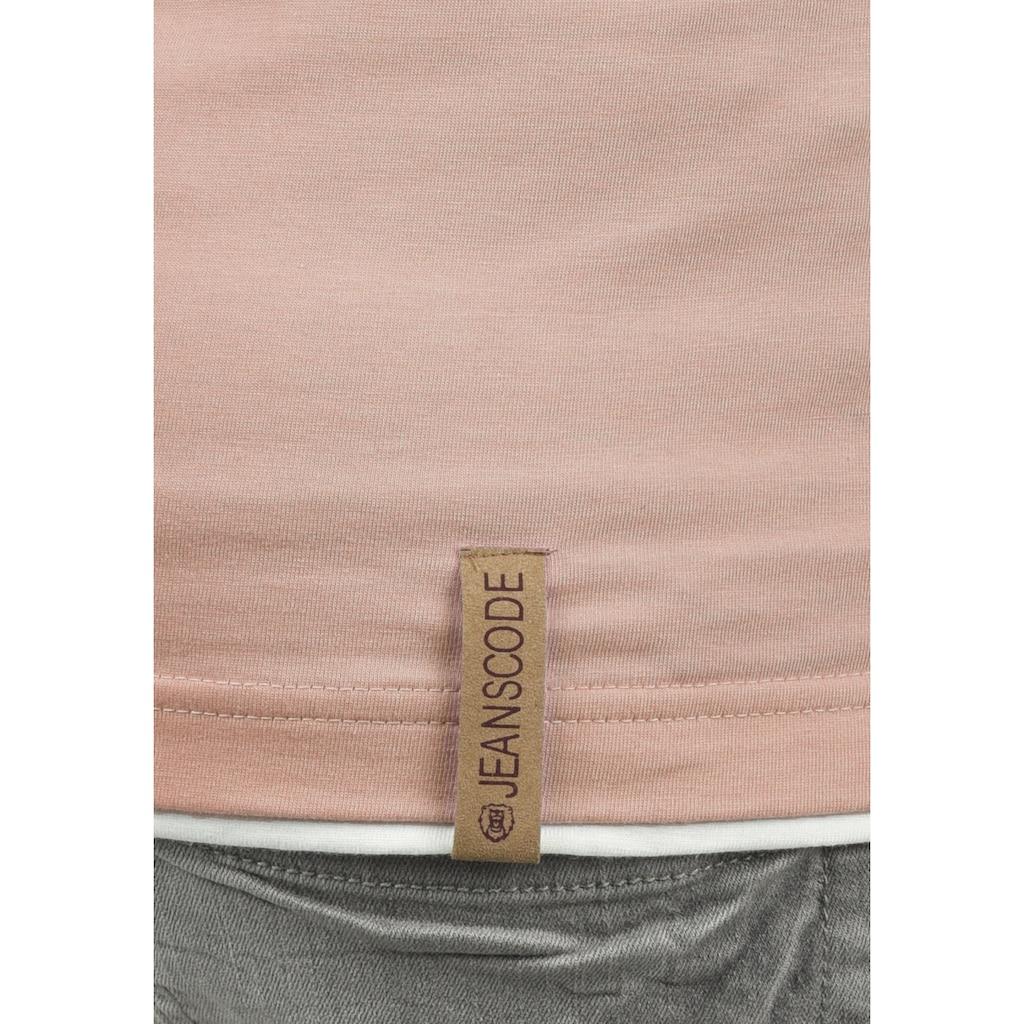 Indicode Layershirt »Tony«, Kurzarmshirt mit Knopfleiste