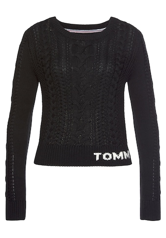 Tommy Jeans Strickpullover »TJW CABLE SWEATER«, mit geschmackvollem Zopfmuster kaufen