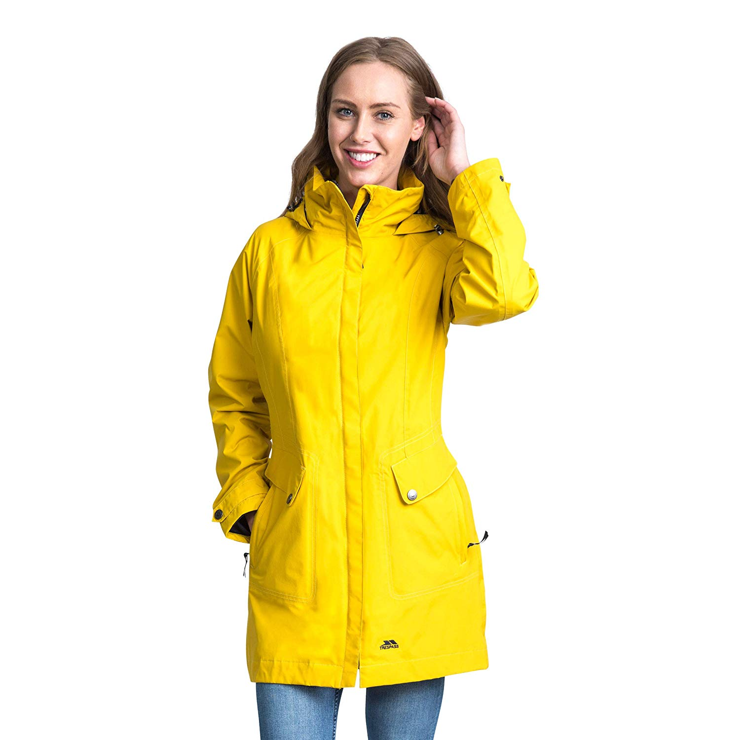 Trespass Outdoorjacke Damen Regenjacke Rainy Day wasserfest mit Kapuze
