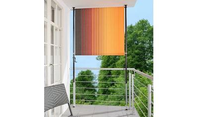 ANGERER FREIZEITMÖBEL Klemm - Senkrechtmarkise »Nr. 100«, orange/braun, BxH: 150x225 cm kaufen