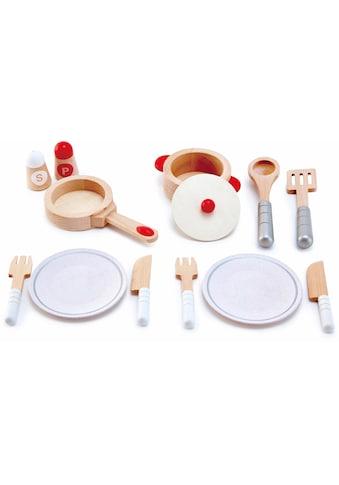 Hape Spielgeschirr »Koch- & Servierset, 13-tlg.«, (Set, 13 tlg.), aus Holz kaufen