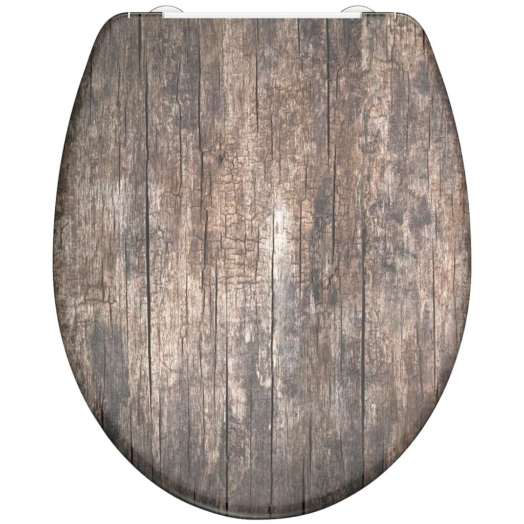 Schütte WC-Sitz »Old Wood«, mit Absenkautomatik