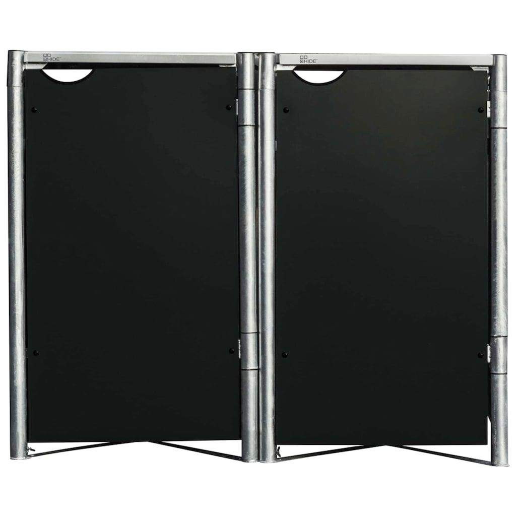Hide Mülltonnenbox, für 2 x 240 l, schwarz