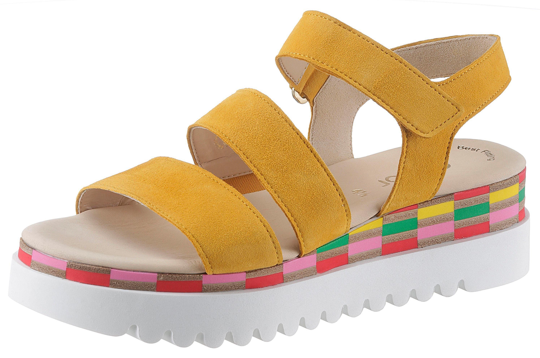 Gabor Sandalette, aus der TV Werbung gelb Damen Sandaletten Sandalen Sandalette