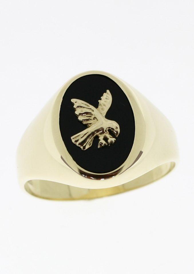 Firetti Siegelring Adler | Schmuck > Ringe > Siegelringe | Goldfarben | Firetti