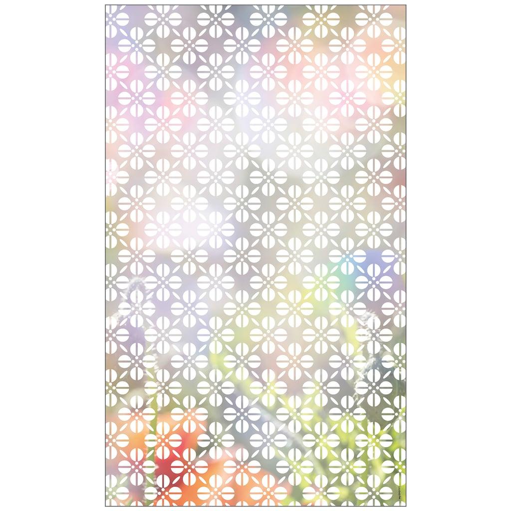 MySpotti Fensterfolie »Look Grafik Blumenmuster white«, halbtransparent, glattstatisch haftend, 60 x 100 cm, statisch haftend